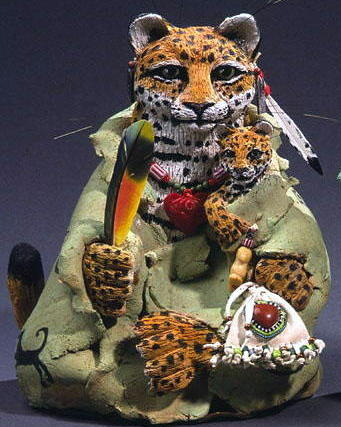 Jagauar art , jaguar sculpture