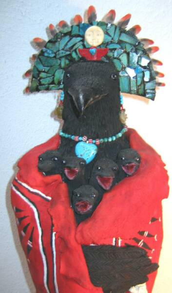 Raven Art, Raven Sculpture, Shamanic Art