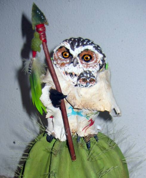 Owl Art, Owl Sculpture, Owl Totem, Spirit Animal